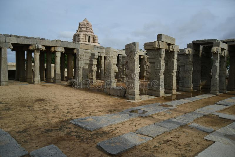 Inde de Lepakshi de temple de Veerabhadra photo libre de droits