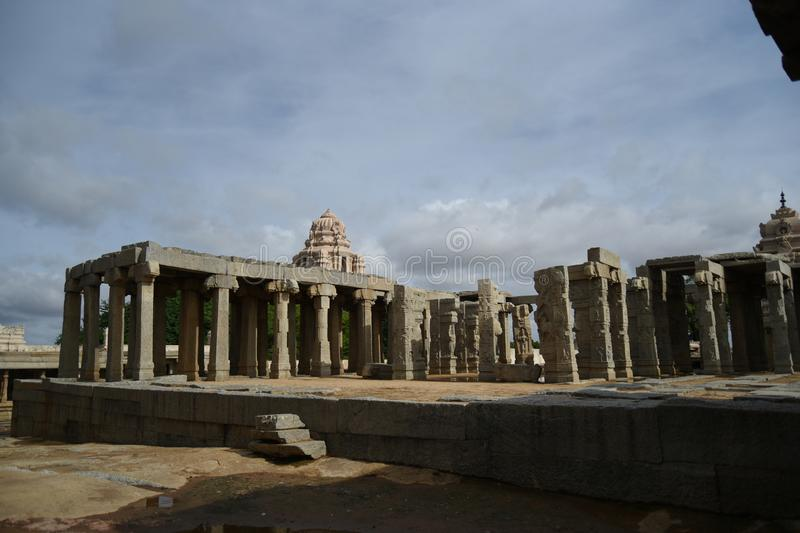 Inde de Lepakshi de temple de Veerabhadra photo libre de droits