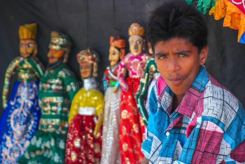 Inde de spectacle de marionnettes images libres de droits
