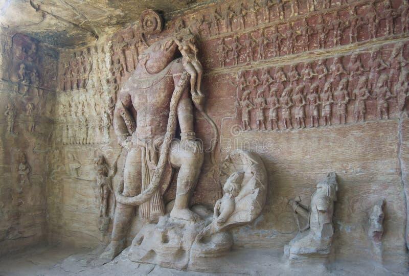 Inde de temple de caverne photographie stock