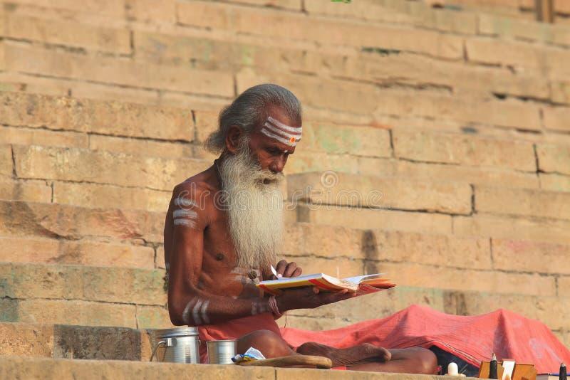 Inde de Varanasi de ghat du Gange photos stock