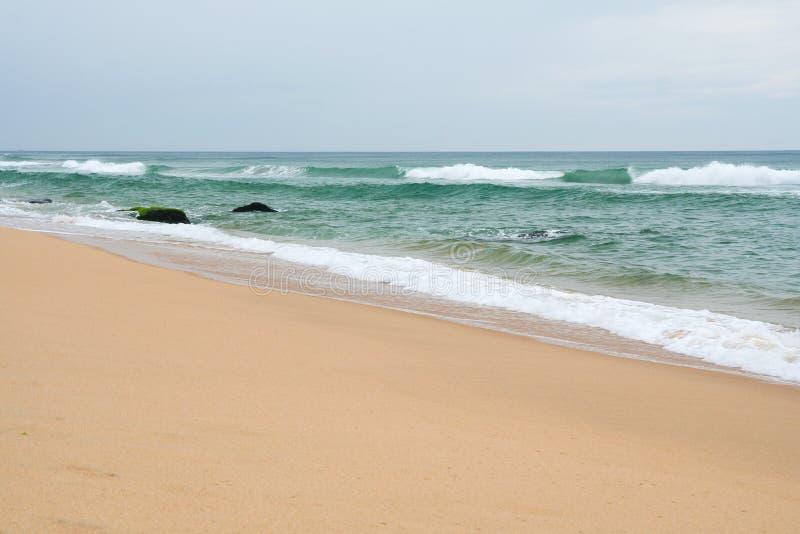Inde de Varkala de plage de sable image libre de droits