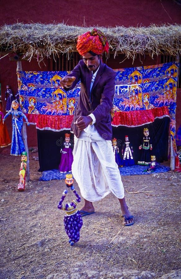 Inde du Ràjasthàn de spectacle de marionnettes photographie stock