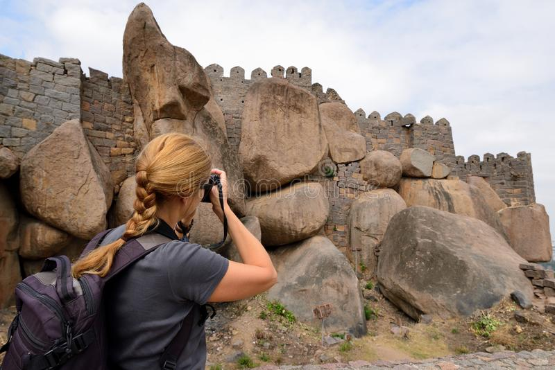 Inde, Fort Golconda à Hyderabad images stock