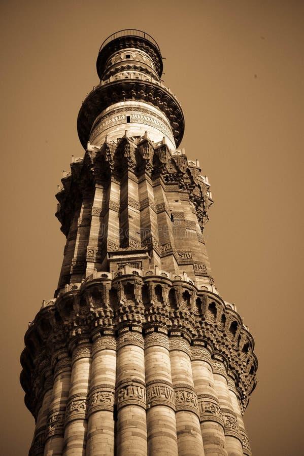 Inde minar de Qutub images stock