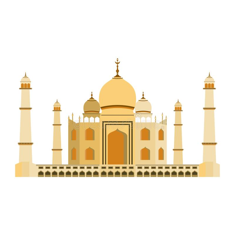 Inde Taj Mahal illustration libre de droits