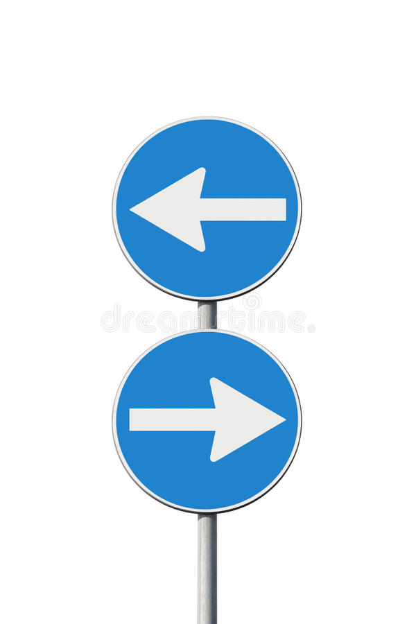 Indecision. Concept image with road signs stock image