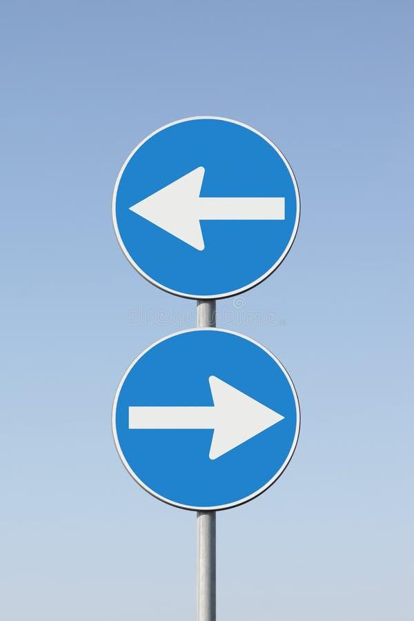 Indecisione - segnali stradali del briciolo di immagine di concetto immagini stock libere da diritti