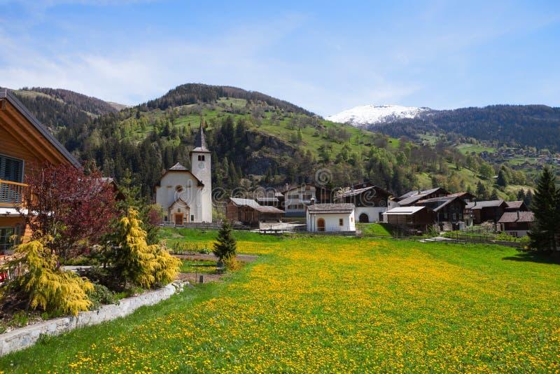 Inden-Dorf, Kanton Wallis, die Schweiz stockbild