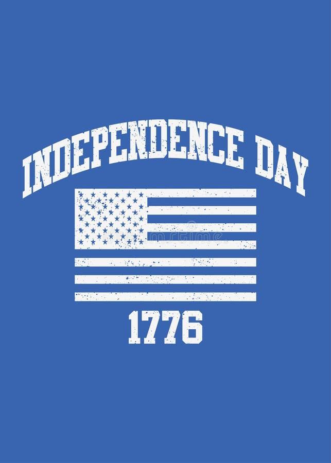 Independência afligida bandeira 4o de América do orgulho de julho ilustração do vetor