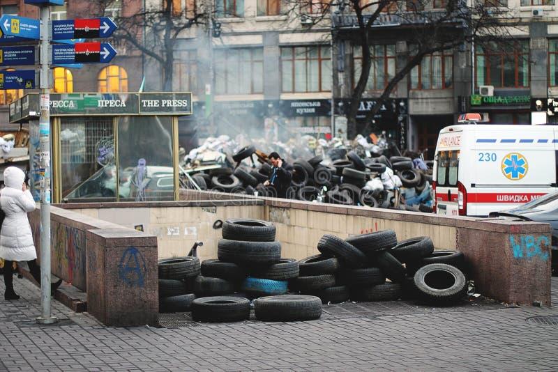 Independência: a dignidade da revolução Kiev 2013 imagens de stock