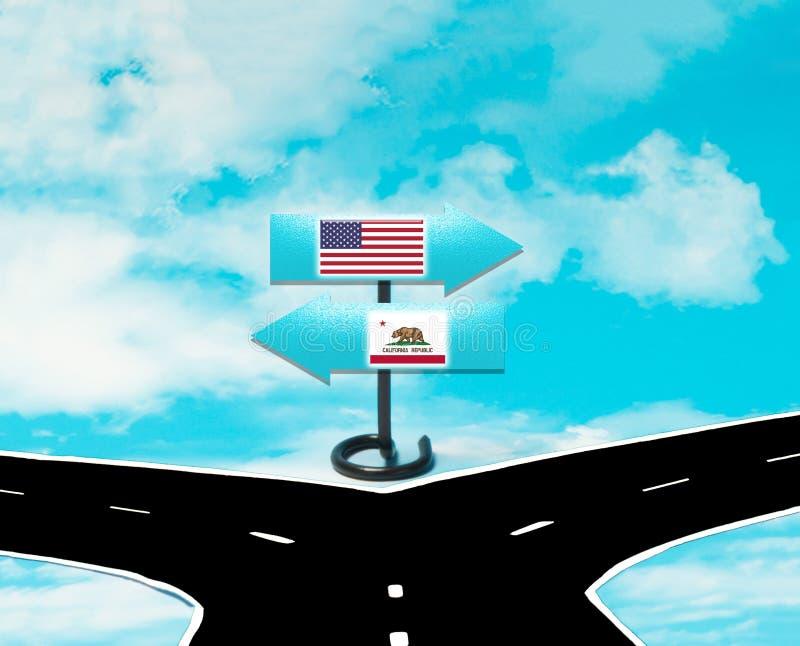 Independência do Estados Unidos de Califórnia ilustração do vetor