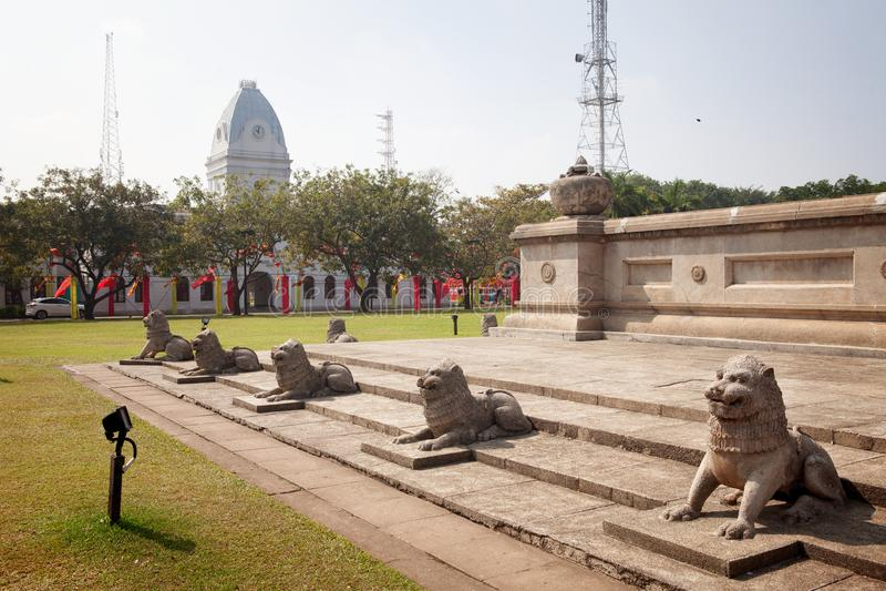 Independência Memorial Hall, cidade de Colombo, Sri Lanka imagens de stock