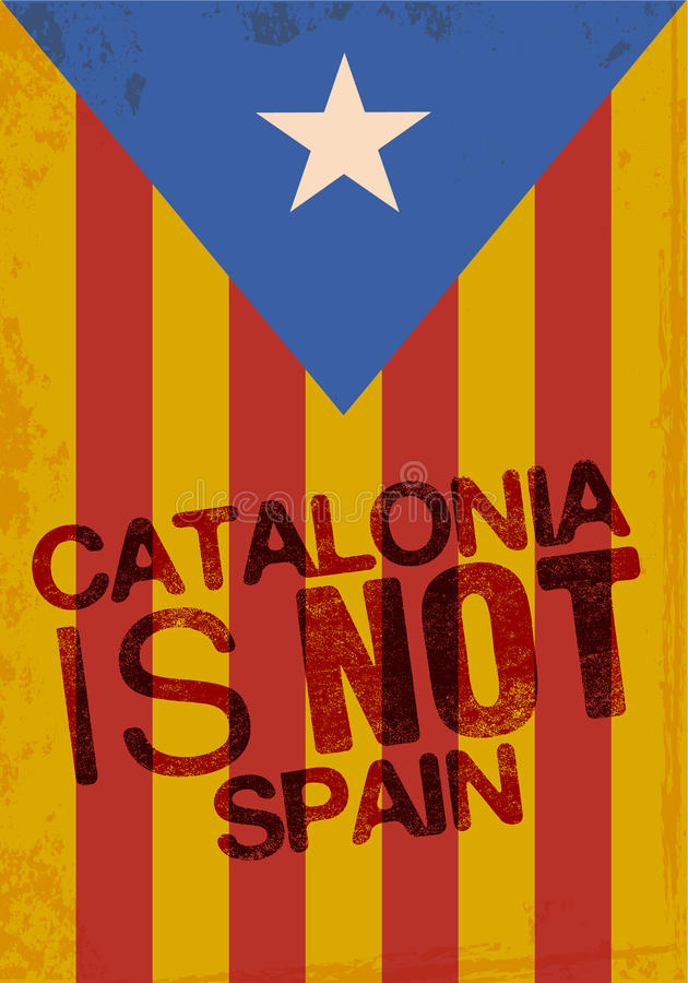 Independence Catalonia vector illustration