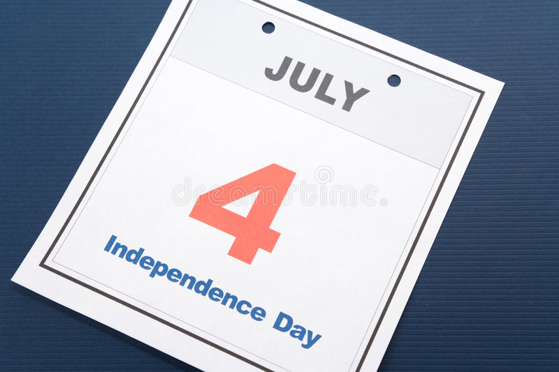 Independence Day. Calendar date Fourth of July for background royalty free stock image