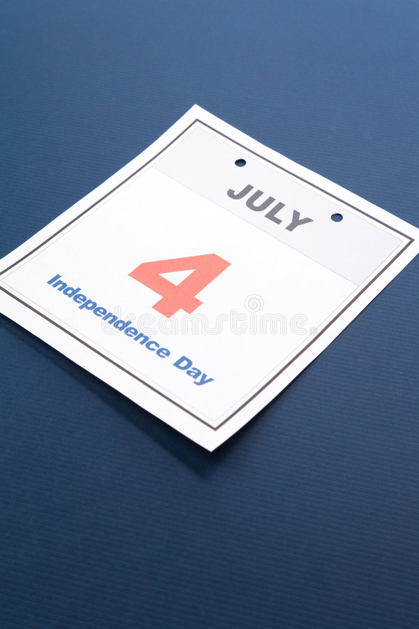 Independence Day. Calendar date Fourth of July for background stock images