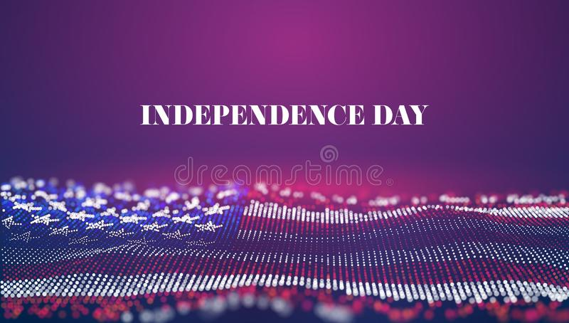 Independence day abstract vector background. USA flag. 4th of july national celebrate. Liberty symbol royalty free illustration
