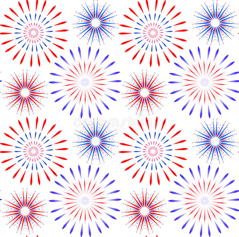 Independence Day of America seamless pattern. July 4th an endless background. USA national holiday repeating texture stock illustration