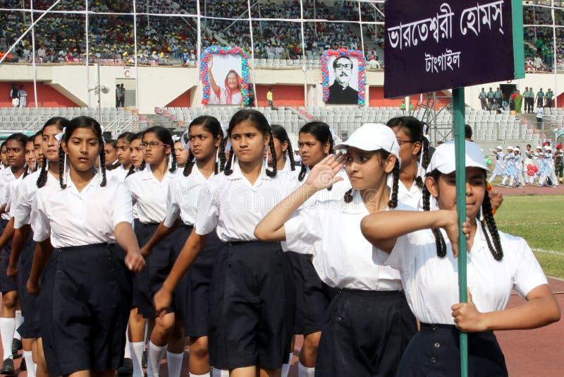 The Independence Day of Bangladesh. Bengali: স্বাধীনতা দিবস Shadhinôta Dibôs, also stock image