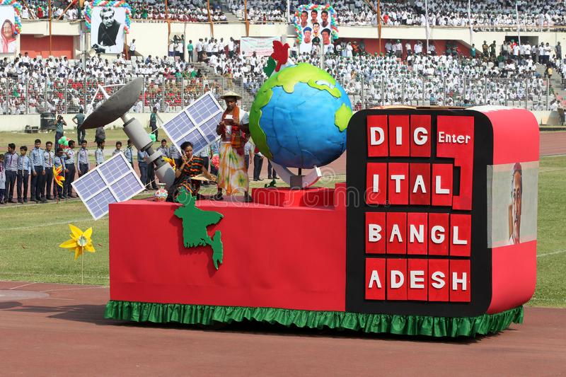 The Independence Day of Bangladesh. Bengali: স্বাধীনতা দিবস Shadhinôta Dibôs, also royalty free stock image