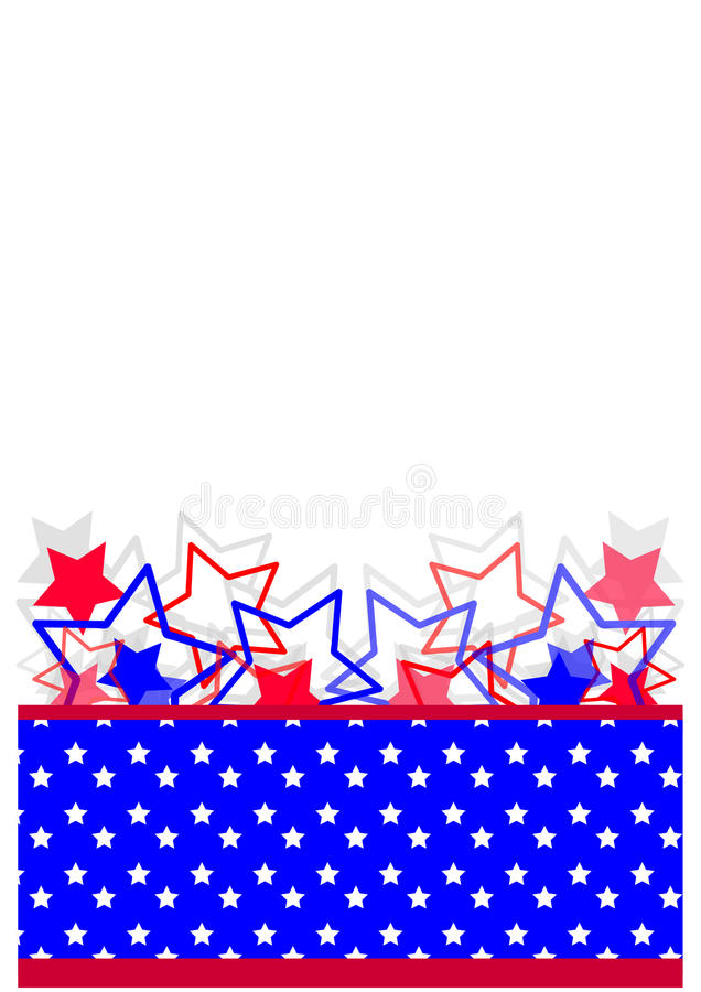 Independence day ,banner royalty free illustration