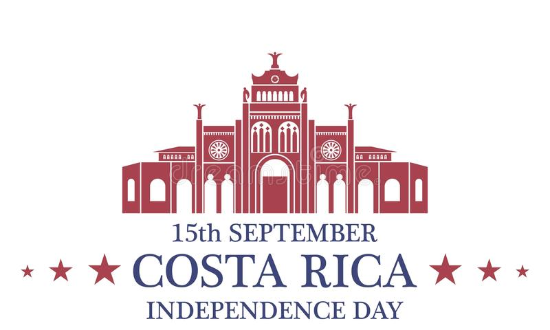 Independence Day. Costa Rica vector illustration
