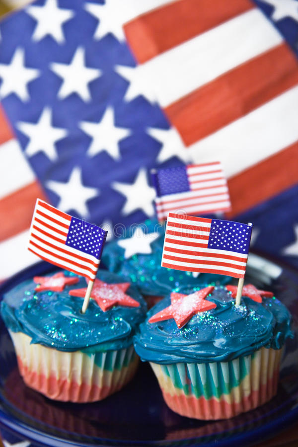 Free Independence Day Cupcakes Royalty Free Stock Photo - 13992535