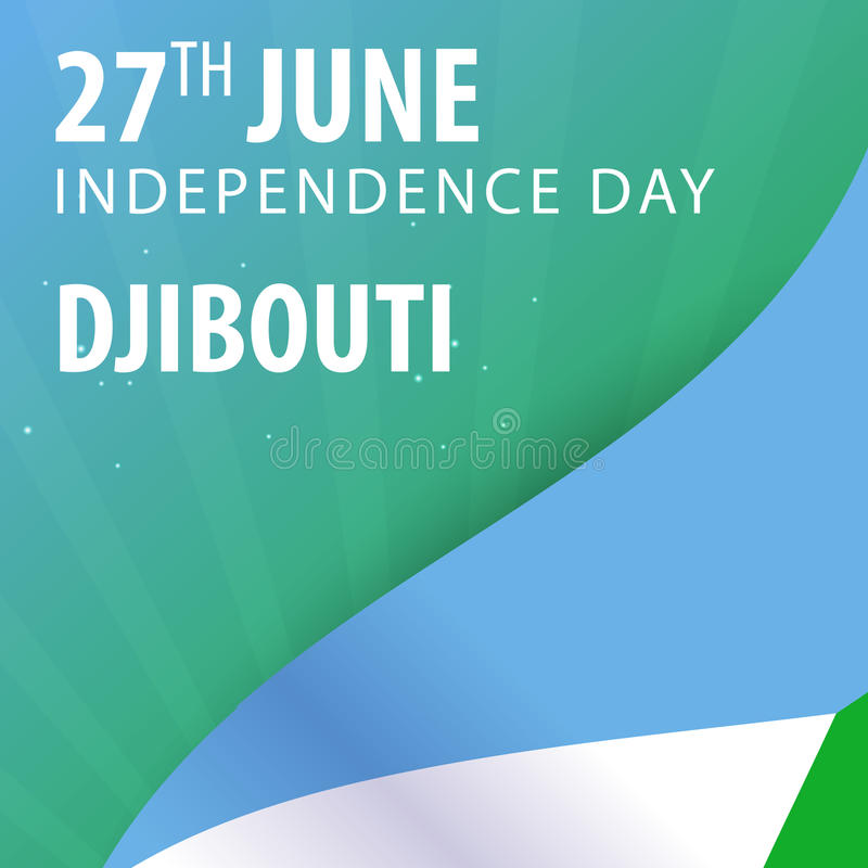 Independence day of Djibouti. Flag and Patriotic Banner. royalty free illustration