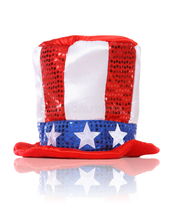 Independence Day Holiday Hat. An Independence Day Holiday Hat over a white background stock images