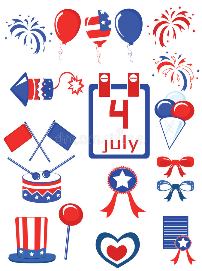 Independence Day,icons Stock Photo