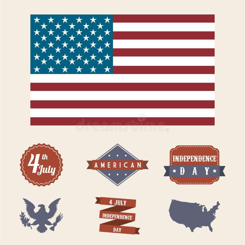Independence day. Illustration over beige background. vector vector illustration