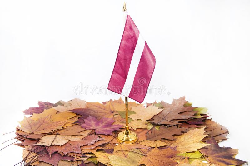 Independence Day of Latvia. Celebrating 100 years of independence of the country.  royalty free stock photo
