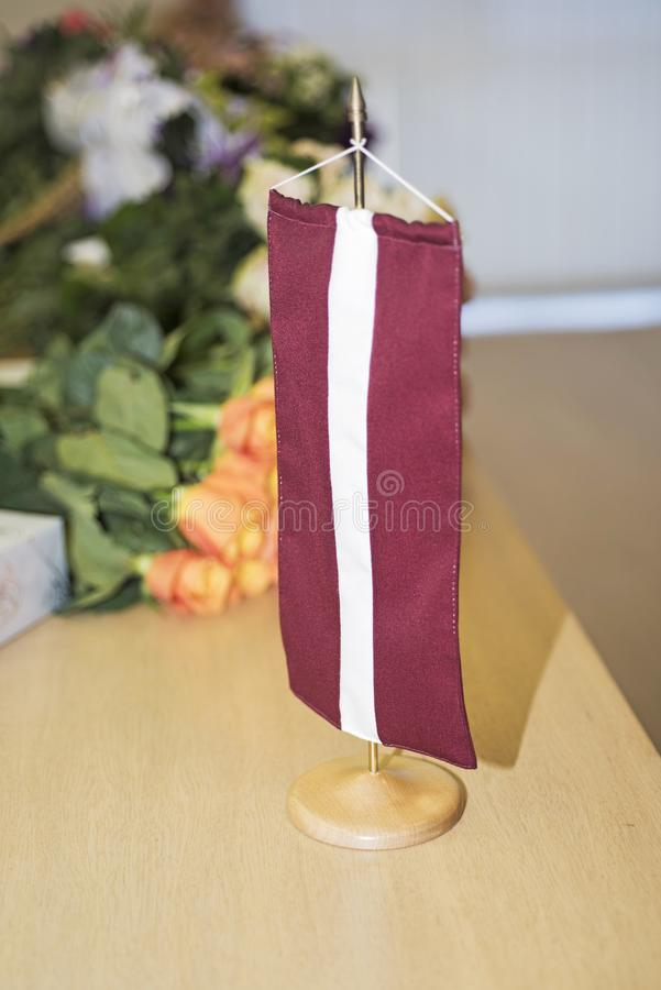 Independence Day of Latvia. Celebrating 100 years of independence of the country stock photos