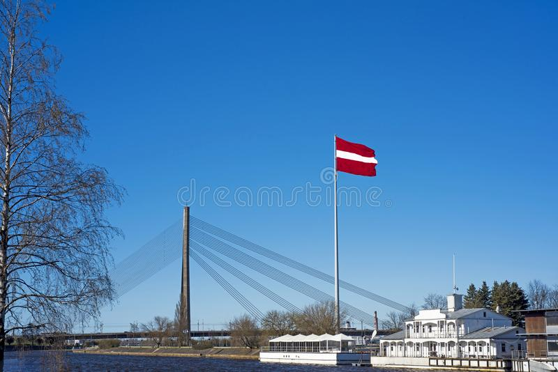 Independence Day of Latvia. Celebrating 100 years of independence of the country stock images