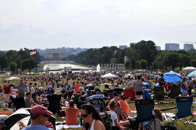 Download Independence Day On The Mall Editorial Image - Image: 10046655