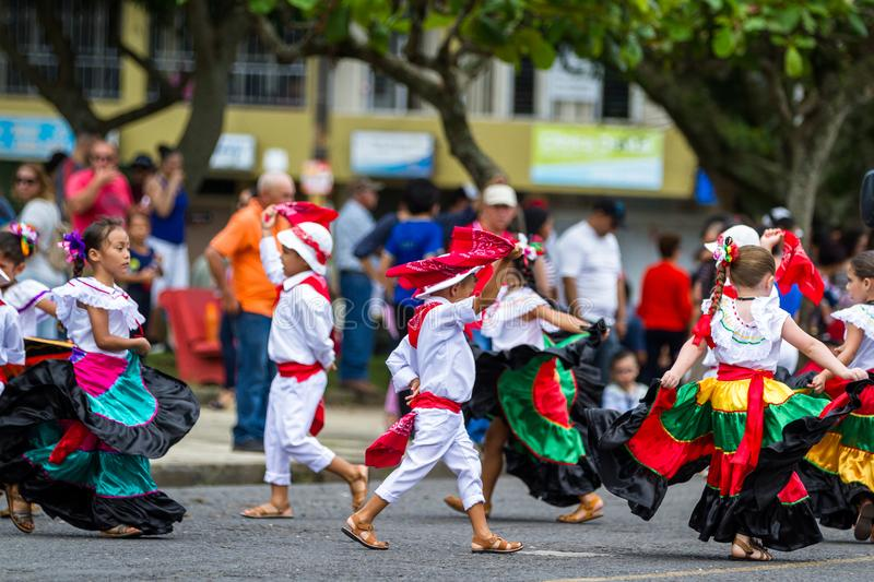 Independence day Parade, Costa Rica stock images