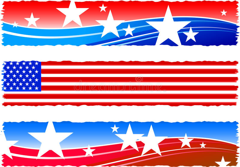 Independence Day patriotic banners royalty free illustration