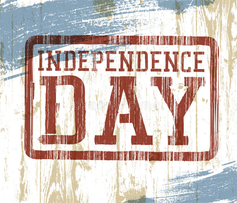 Download Independence Day Stamp On Wooden Background Stock Vector - Image: 25386157