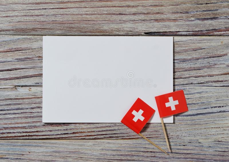 Independence day Switzerland, August 1. Federal holiday in honor of the founding of the Swiss Confederation. the concept of stock photo
