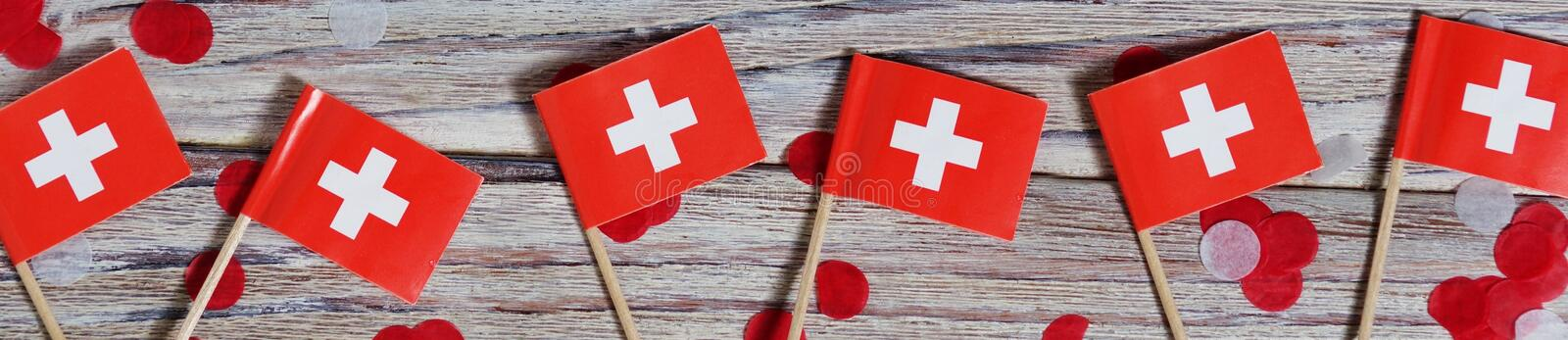 Independence day Switzerland, August 1. Federal holiday in honor of the founding of the Swiss Confederation. day of the. AUGUST 01 Concept independence day of royalty free stock photo