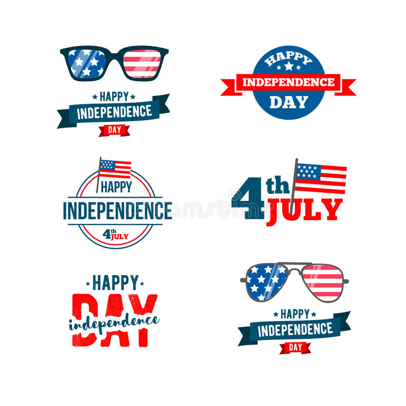Independence day 4th of July typographic design. United Stated Fourth of July vector illustration royalty free illustration