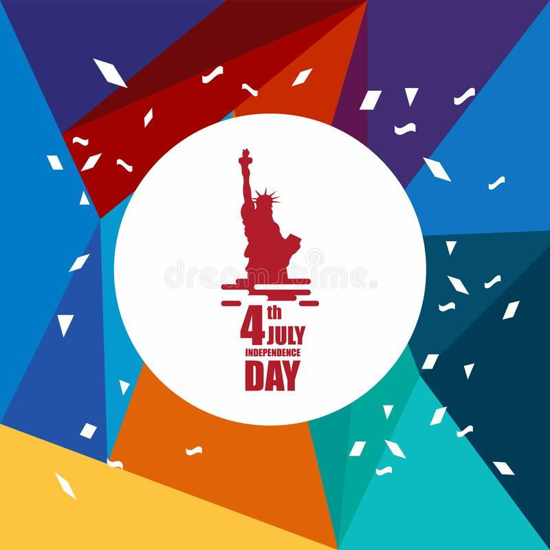 Independence Day 4th July Vector Template Design Illustration. July 4th fourth independence day happy background greeting design usa illustration vector america vector illustration
