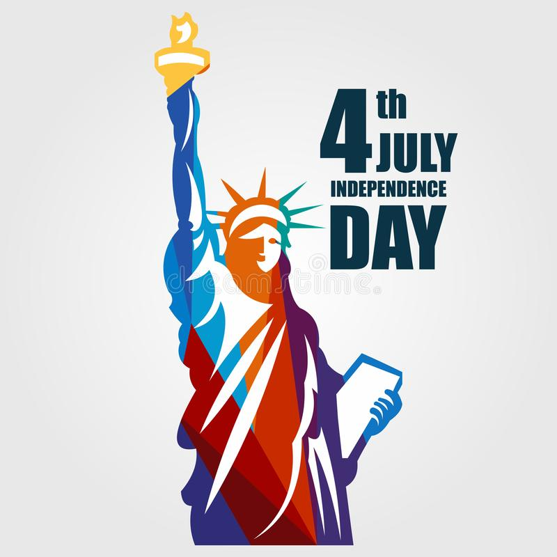 Independence Day 4th July Vector Template Design Illustration. July 4th fourth independence day happy background greeting design usa illustration vector america stock illustration