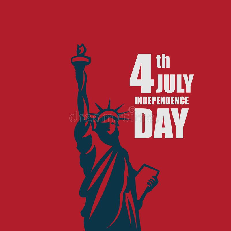 Independence Day 4th July Vector Template Design Illustration. July 4th fourth independence day happy background greeting design usa illustration vector america royalty free illustration