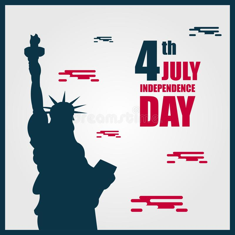 Independence Day 4th July Vector Template Design Illustration. Fourth happy background greeting usa america united banner card blue red logo flag symbol holiday stock illustration