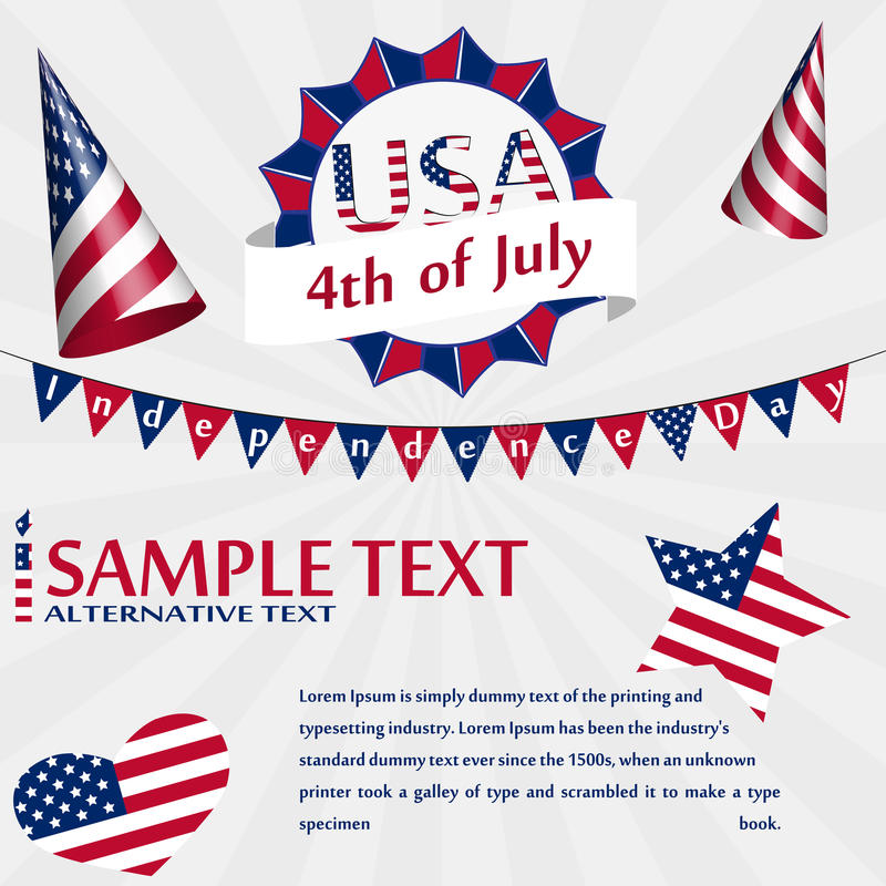 Independence Day USA Card vector illustration