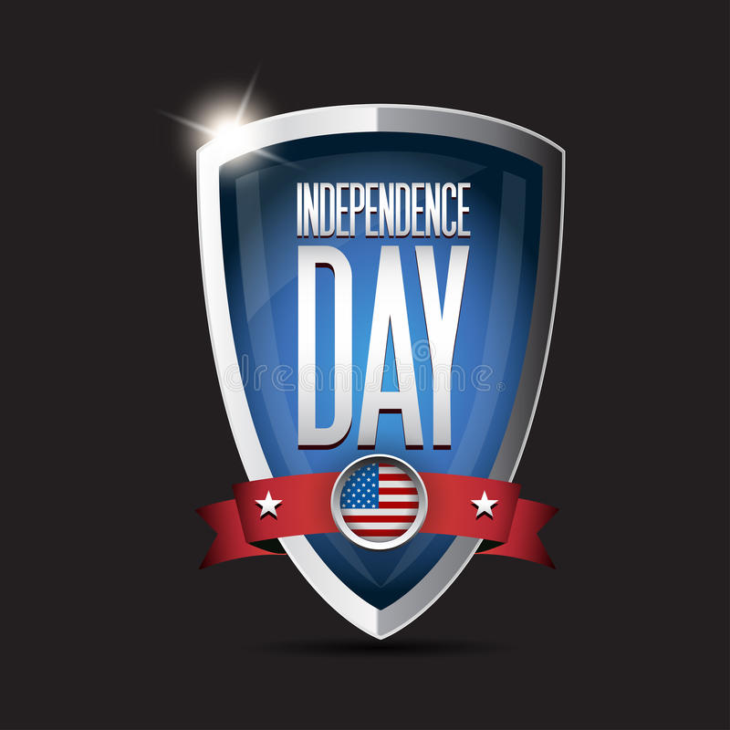Independence Day USA Shield Stock Photo