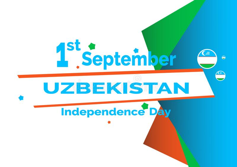 Independence Day Uzbekistan flag background. Vector Illustration EPS 10. royalty free illustration