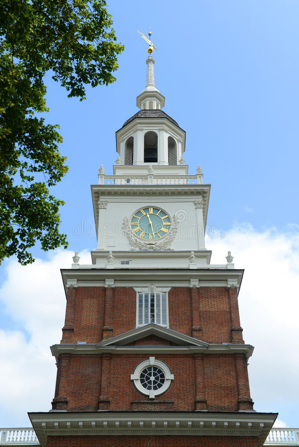 Independence Hall, Philadelphia. Independence Hall bell tower in old town Philadelphia, Pennsylvania, USA. Now Independence Hall is a UNESCO World Heritage Site royalty free stock photo