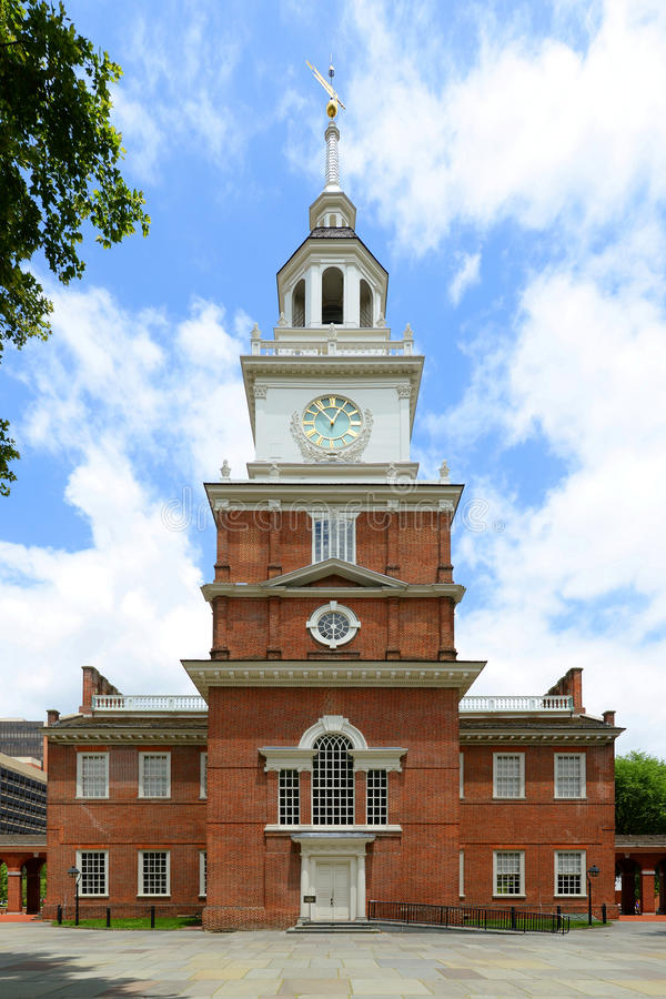 Independence Hall, Philadelphia. Independence Hall front facade in old town Philadelphia, Pennsylvania, USA. Now Independence Hall is a UNESCO World Heritage royalty free stock photography